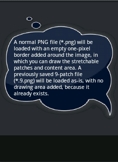 Setting the background image of an Android TextView  